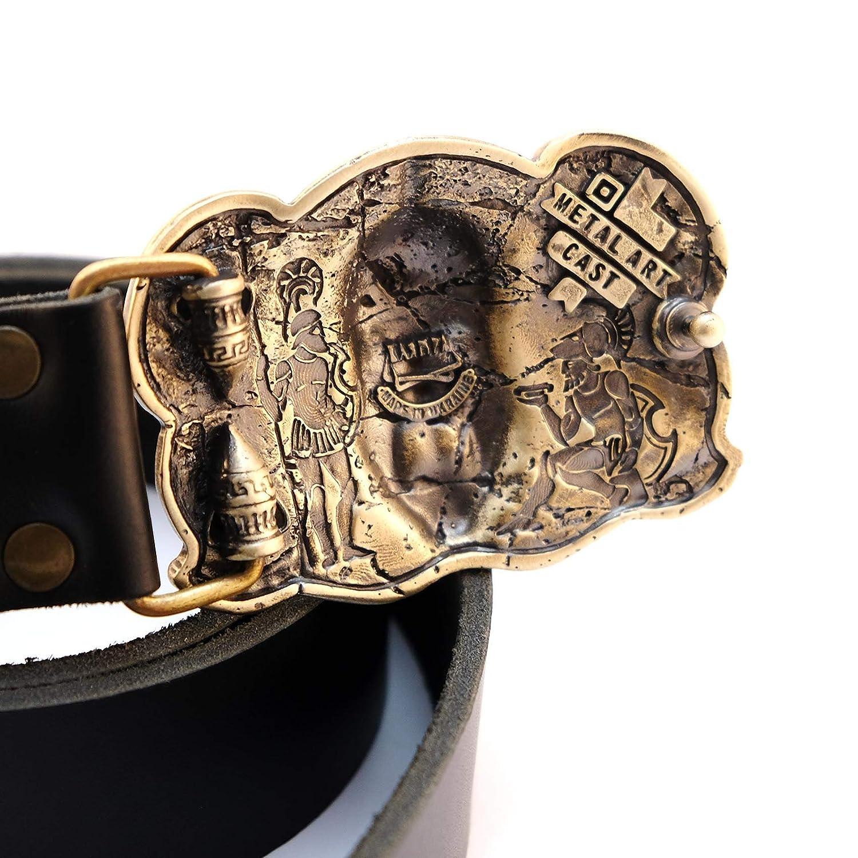 40mm buckle handmade buckle Greek helmet buckle. 40mm Leather buckle with Spartan helmet King Leonidas Spartan helmet