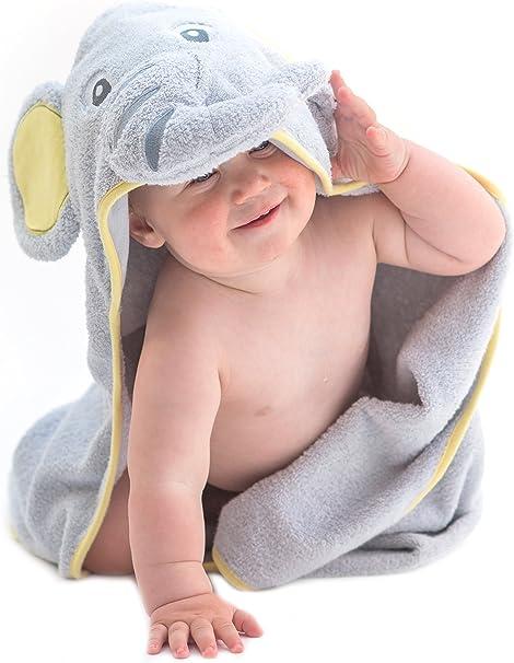 Little Tinkers World Toalla de bebé con capucha de elefante EXTRA ...