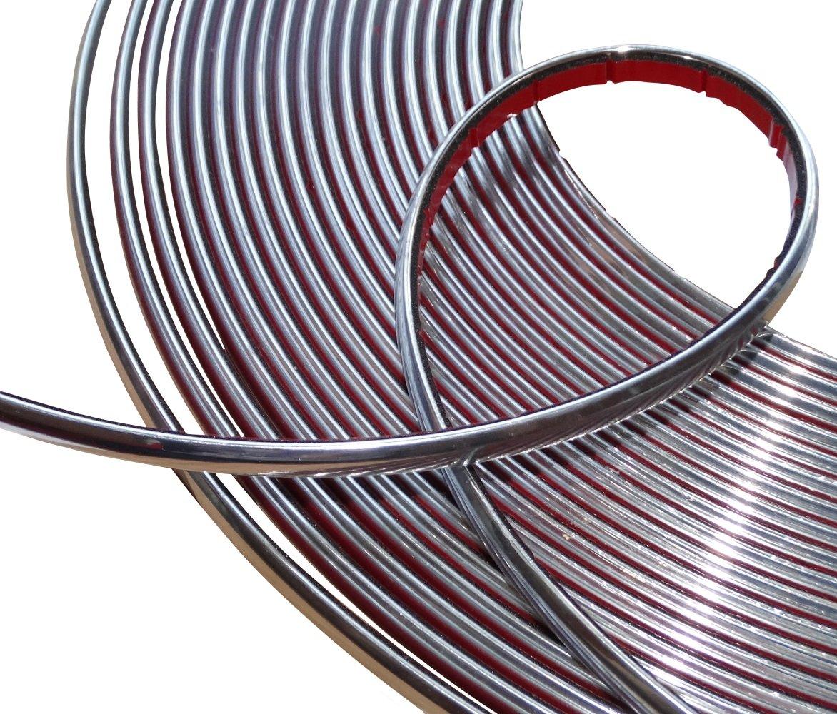 Aerzetix: 8mm 4.5m Bande baguette adhé sive couleur chrome nickel argent SK2-C12417-AB58