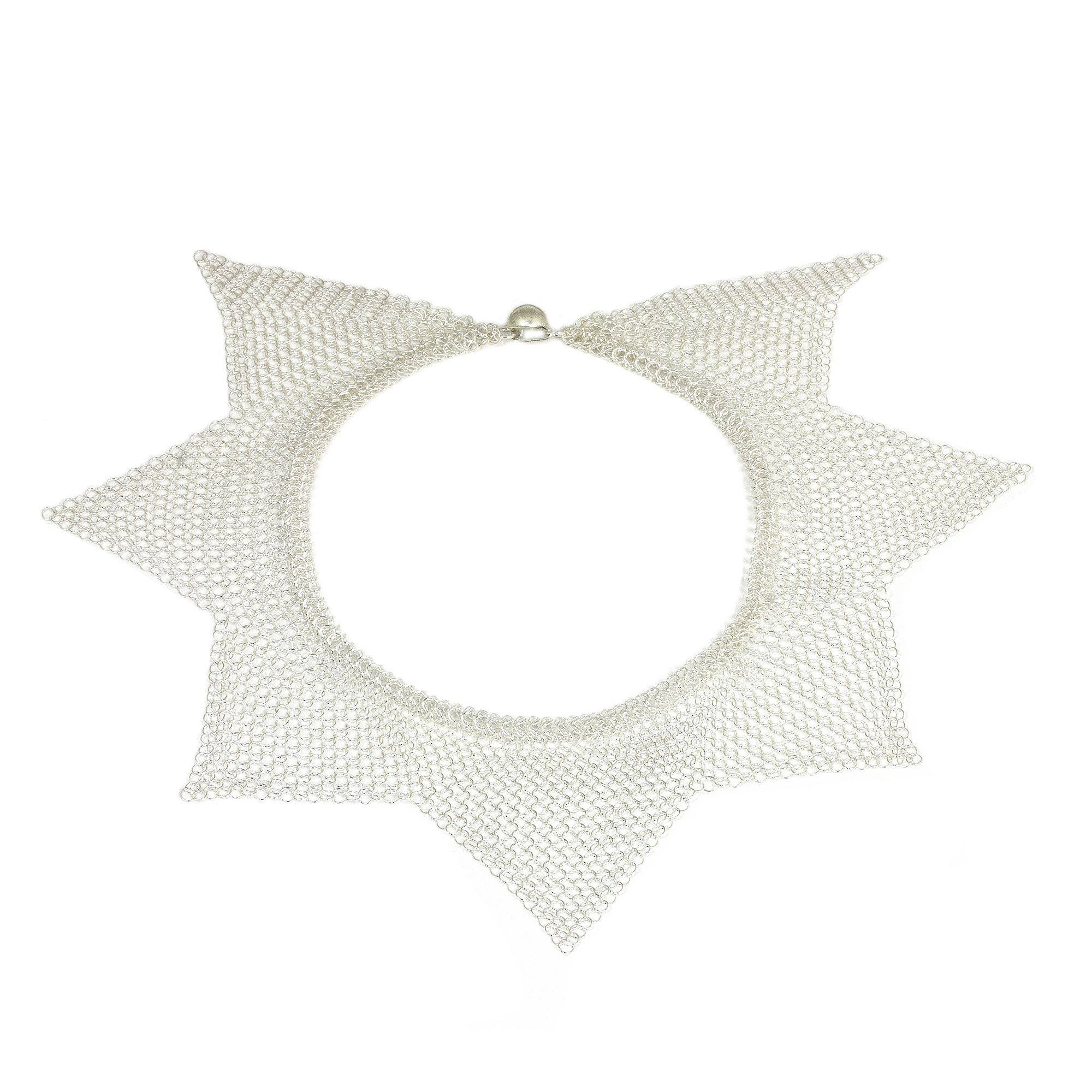 NOVICA .925 Sterling Silver Collar Necklace, 18'', 'Reign'