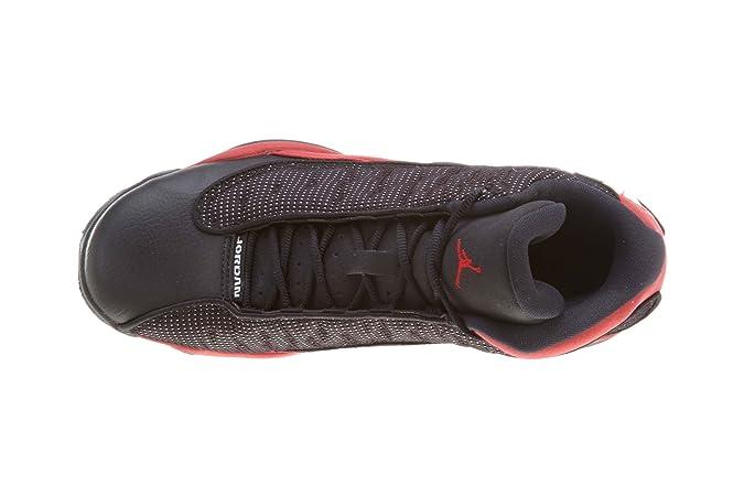 20b7e83b00 Amazon.com | Nike Air Jordan 13 Retro/ black/white/red (GS) Kids 414574-010  | Shoes