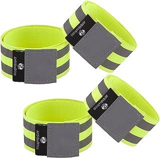 Produit neuf réfléchissant Running Cheville Bandes Brassards Bracelets pour homme et femme | haute visibilité Réflecteur Gear | Course Cyclisme Marche de sécurité Apparel Generic