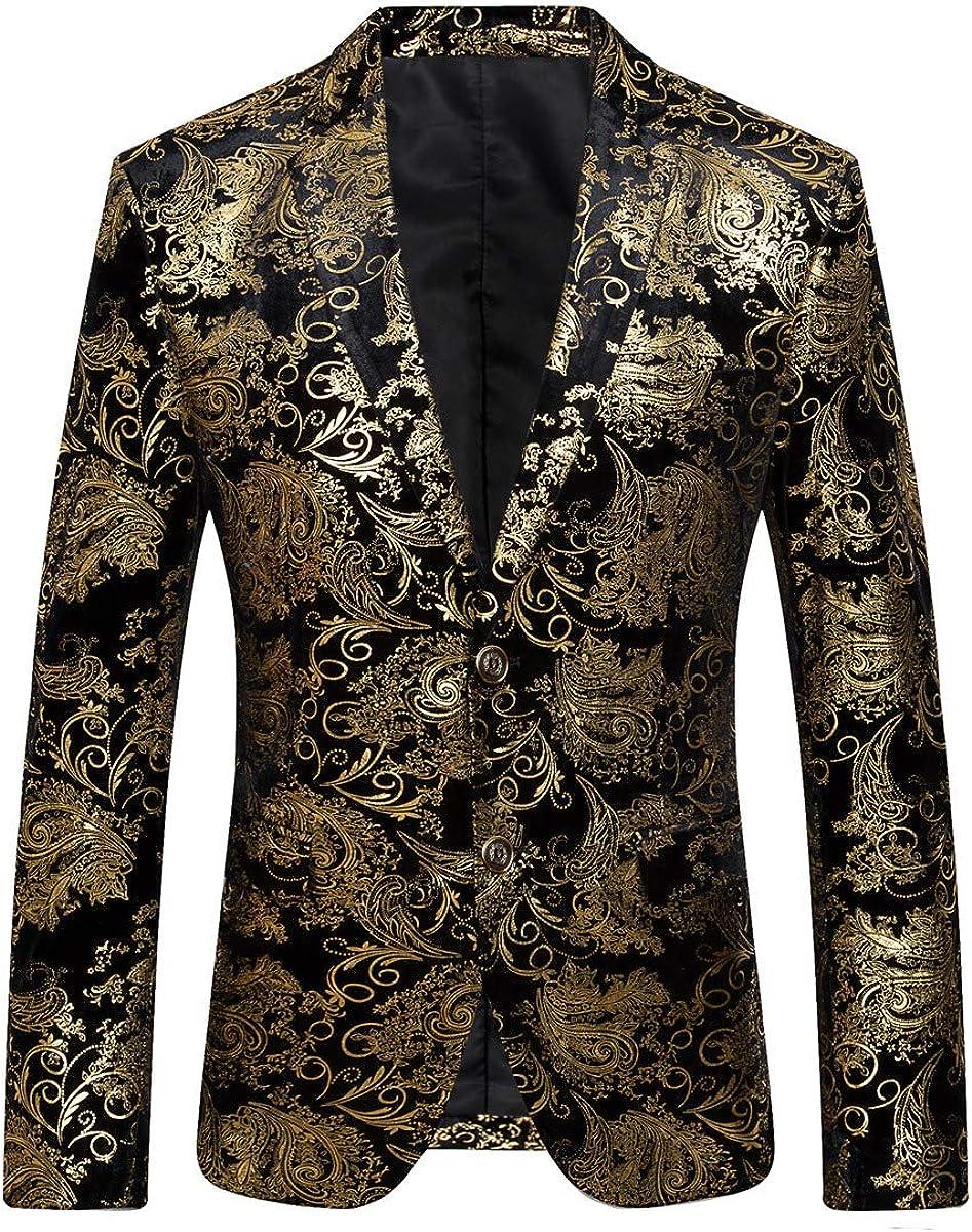 Benibos Mens Fashion Suit Jacket Blazer One Button Weddings Party Dinner Prom Tuxedo