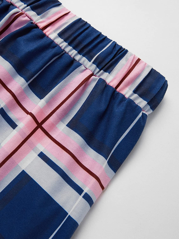 Milumia Womens V Neck Letter Print Tee and Drawstring Plaid Shorts Pajama Set Large Multicolor at Amazon Womens Clothing store: