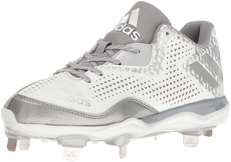 adidas レディース PowerAlley 4 W B01C9OY3LQ 9 B(M) US|White/Aluminum/Metallic/Silver White/Aluminum/Metallic/Silver 9 B(M) US