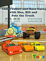 Learn Colors and Race Cars with Max, Bill and Pete the Truck - TOYS [OV]