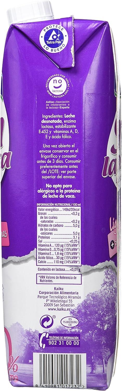 Kaiku Leche Sin Lactosa Desnatada - Paquete de 6 x 1000 ml - Total 6000 ml: Amazon.es: Productos para mascotas