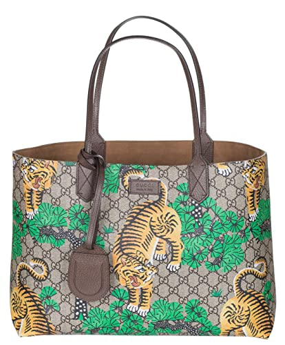 a73d894a2b2088 Gucci GG Supreme Leather Bengal Tiger Tote Shoulder Bag: Amazon.co.uk:  Shoes & Bags