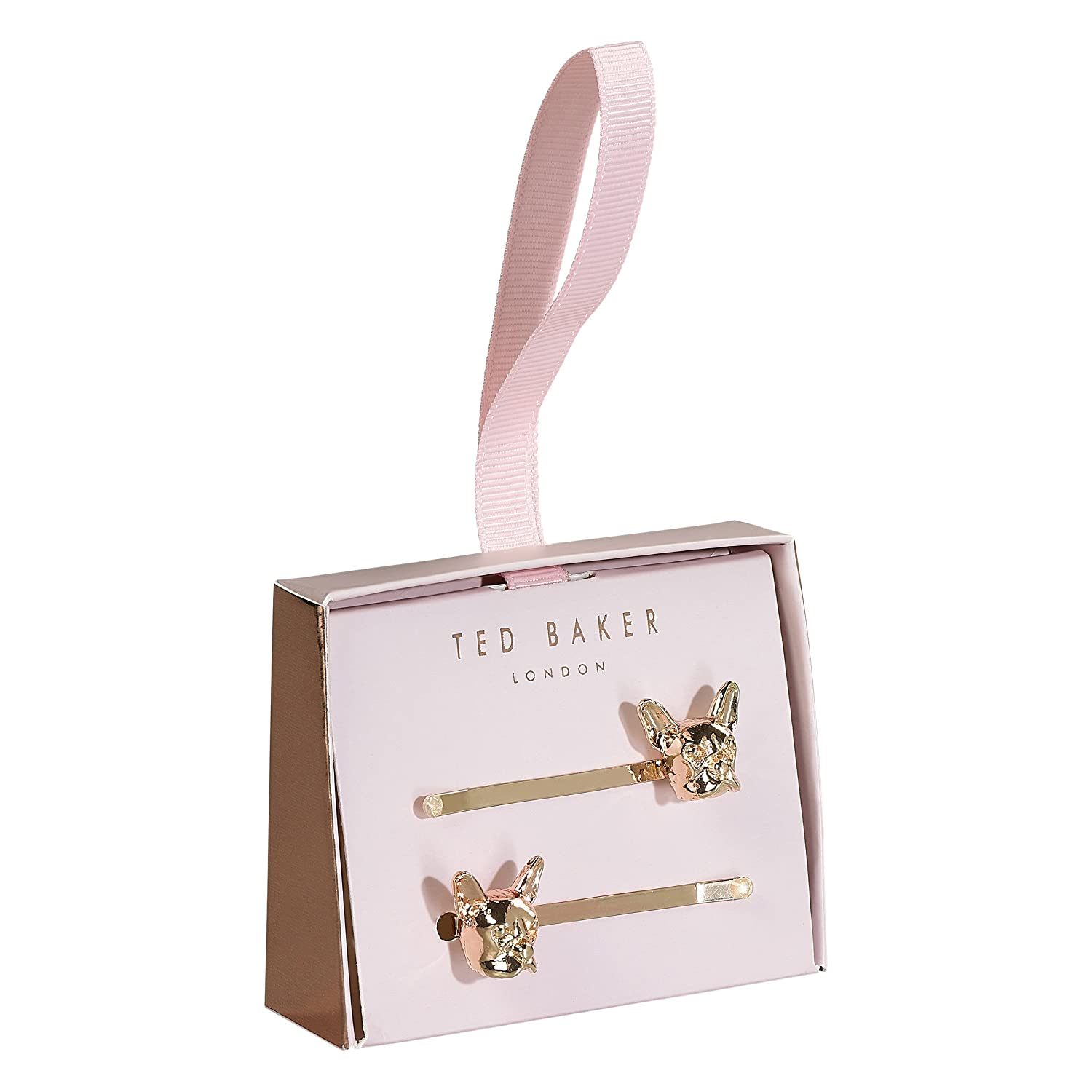 Ted Baker | Two Hair Slides | French Bulldog Design | Premium Rose Gold Wild and Wolf TED445