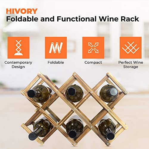 Foldable Wooden Wine Bottle Holder