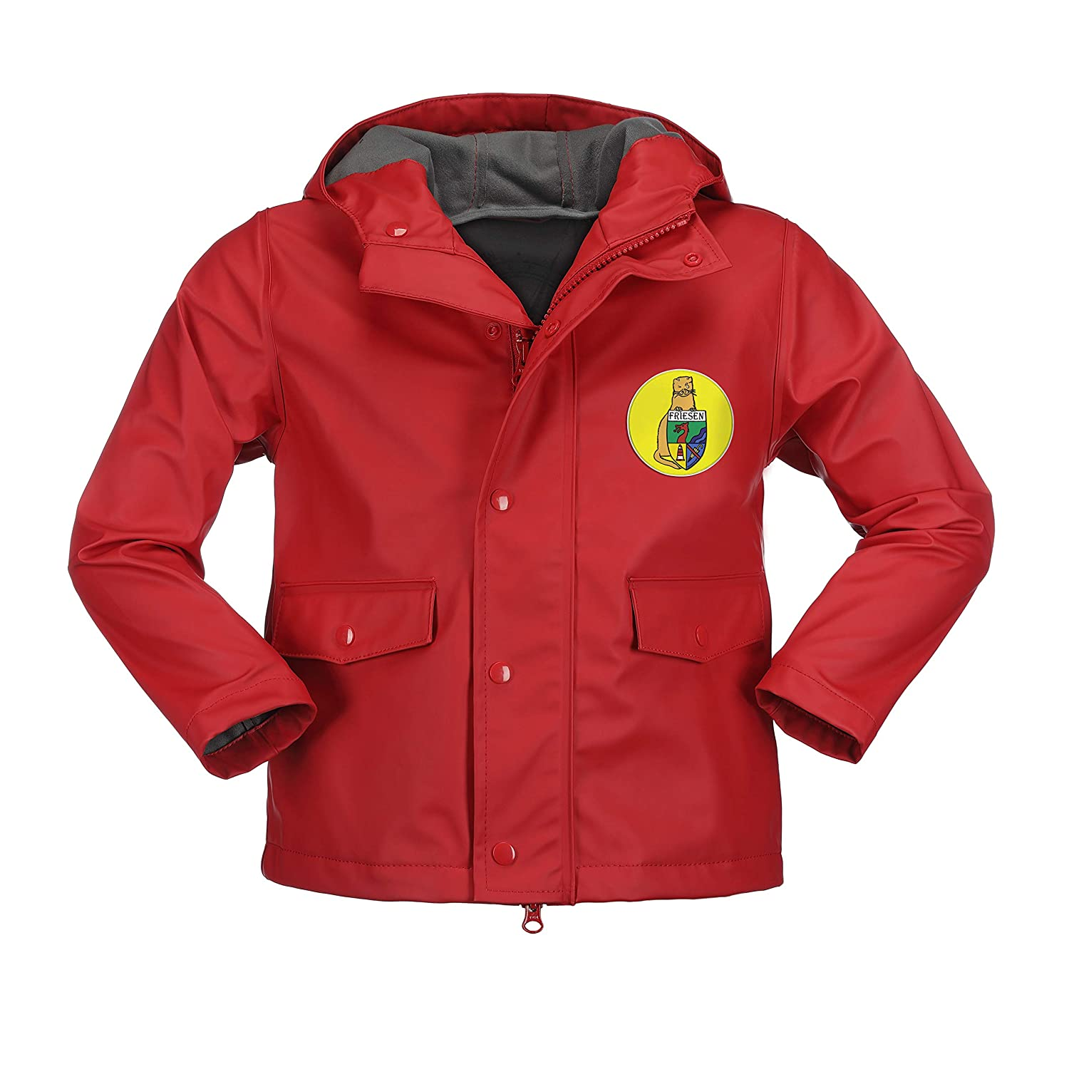 Kirschrouge Mit Separatem Logopatch In jaune 98 104 cm Friesennerz - Manteau imperméable - Fille Jaune Jaune