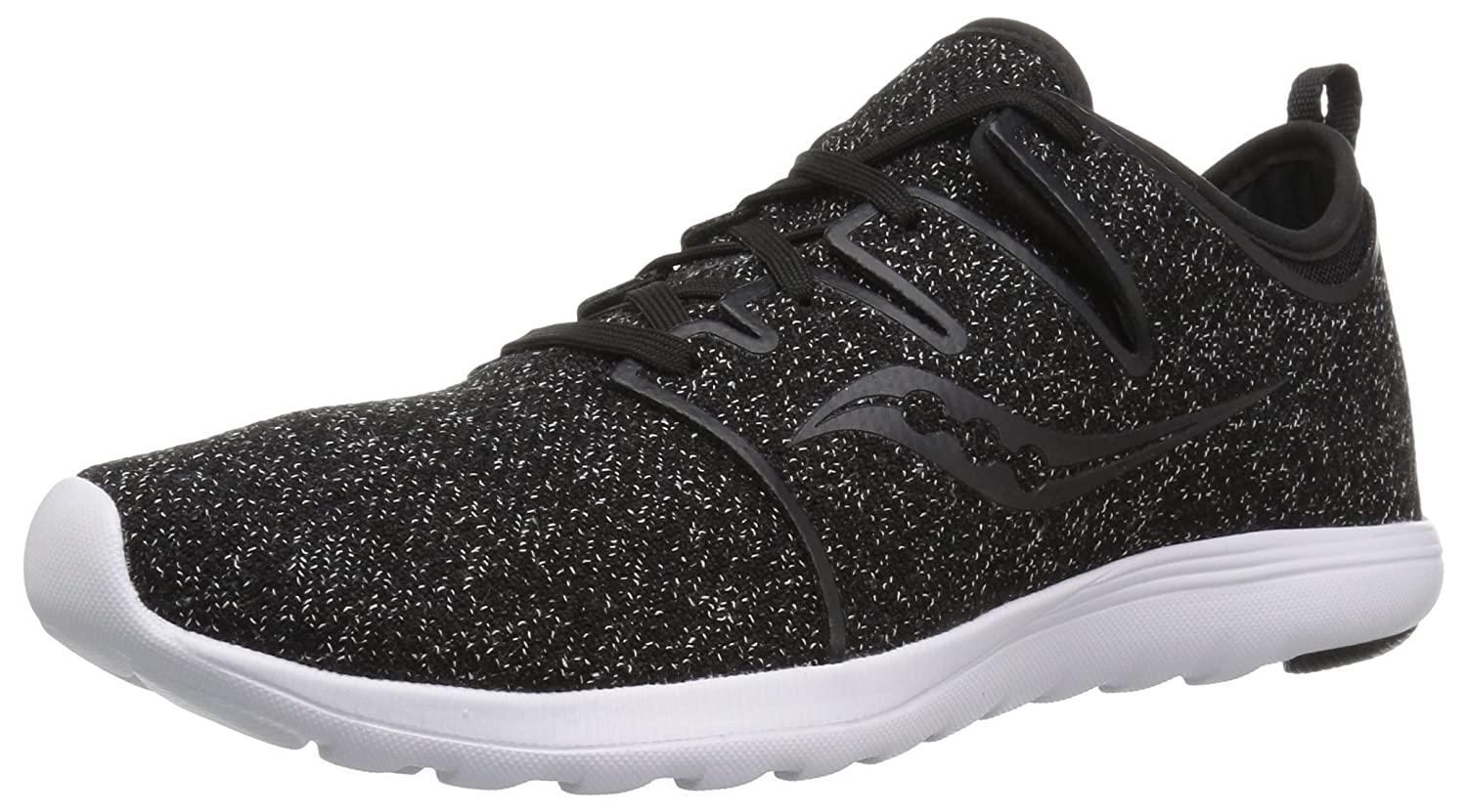 Saucony Women's Eros Lace Sneaker B077Y28WYW 12 M US|Black/Speckled