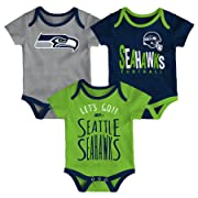 NFL by Outerstuff NFL Seattle Seahawks Newborn   Infant Little Tailgater  Short Sleeve Bodysuit Set Dark 1db2f24cb