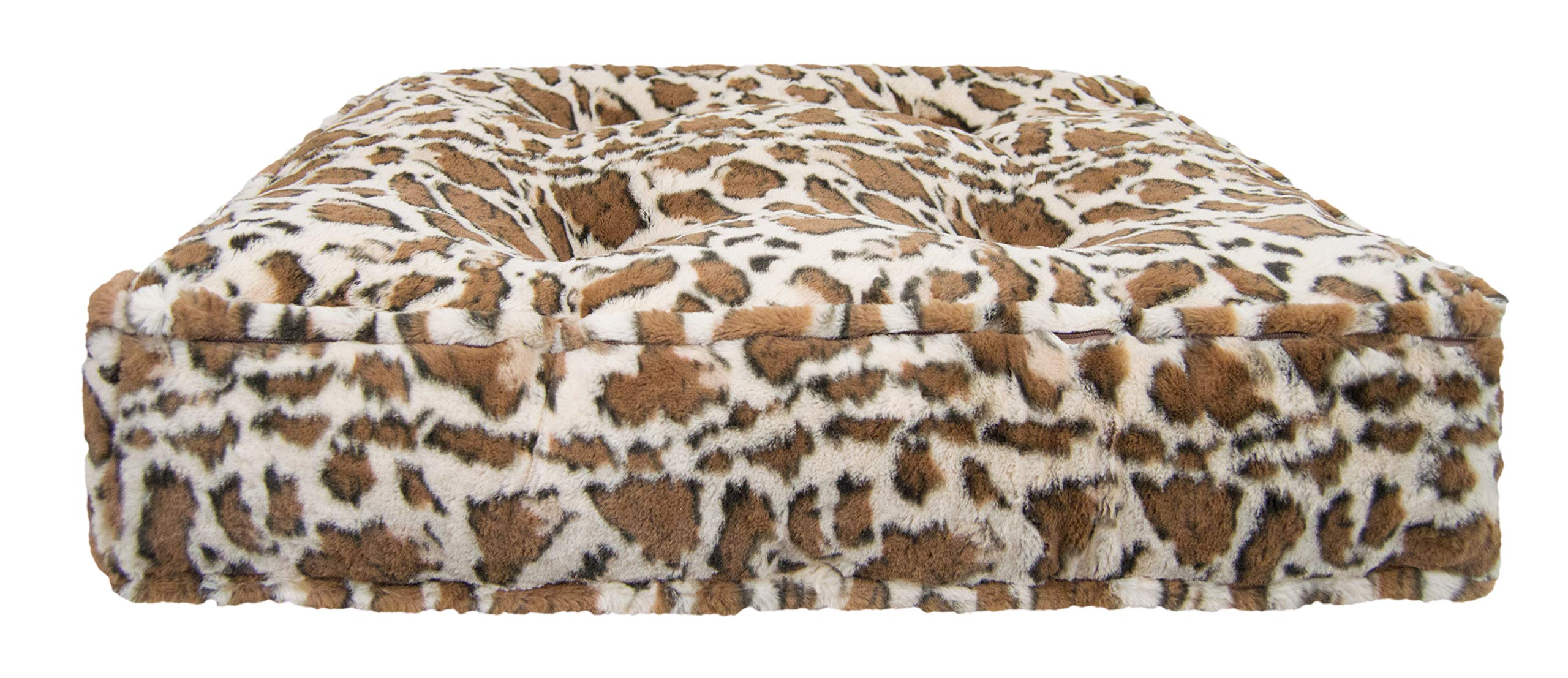 Bessie and Barnie Giraffe Extra Plush Faux Fur Sicilian Rectangle Pet/Dog Bed (Multiple Sizes) by Bessie + Barnie (Image #2)