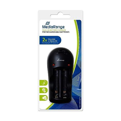 MediaRange MRBAT190 - Cargador (AA,AAA, Níquel-Metal hidruro ...