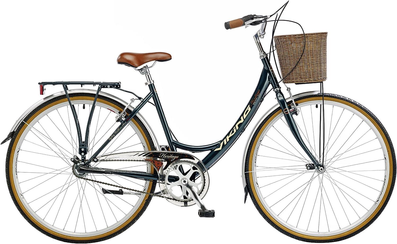 Viking Downtown, 3 velocidad Sturmey, 700 C rueda bicicleta, verde ...