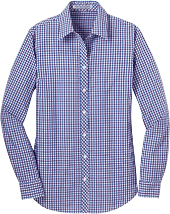 L654 Port Authority Ladies Long Sleeve Gingham Easy Care Shirt