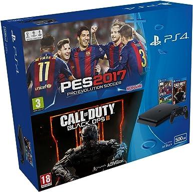 PlayStation 4 Slim (PS4) 500 GB - Consola + Pro Evolution Soccer ...