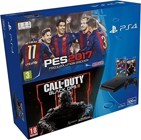 PlayStation 4 Slim (PS4) 500 GB - Consola + Pro Evolution Soccer ...