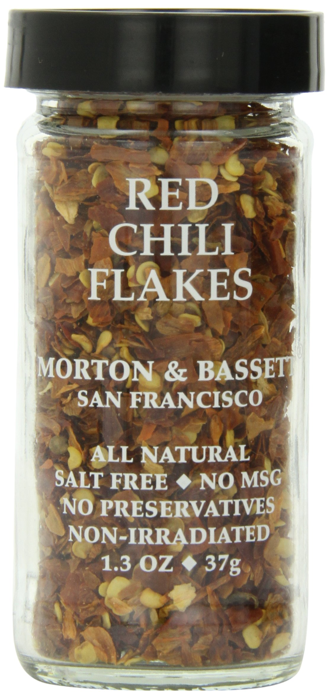 Morton & Bassett Red Chili Flakes, 1.3-Ounce Jars (Pack of 3) by Morton & Bassett