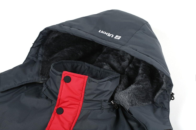Ubon男士防水防风抓绒滑雪夹克,红色仅售$47.56,约合人民币313元