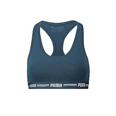 Puma - Sujetador Deportivo - Básico - para Mujer Dark Denim (945 ...