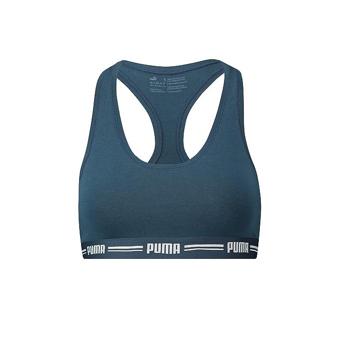 Puma - Sujetador Deportivo - Básico - para Mujer Dark Denim (945) S