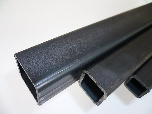 B/&T Metall Stahl Vierkantrohr 50 x 50 x 3 mm in L/ängen /à 500 mm 0//-3 mm Quadratrohr ST37 schwarz roh Hohlprofil Rohstahl