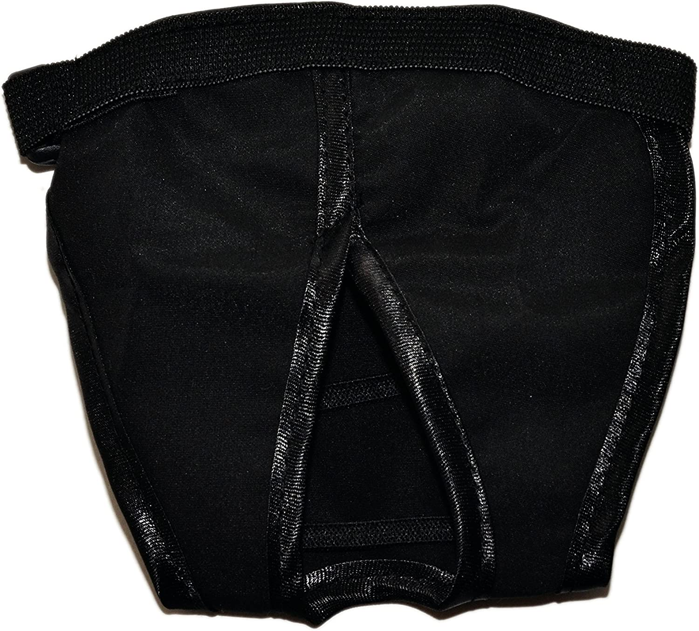 Perro de color negro pantalones de higiene Bitch temporada calor 6/Tama/ños