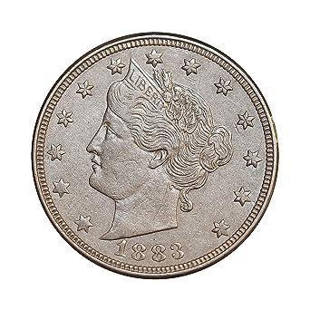 //// 1 Coin 1883 *no cent* Liberty V Nickel //// Choice AU+ 1