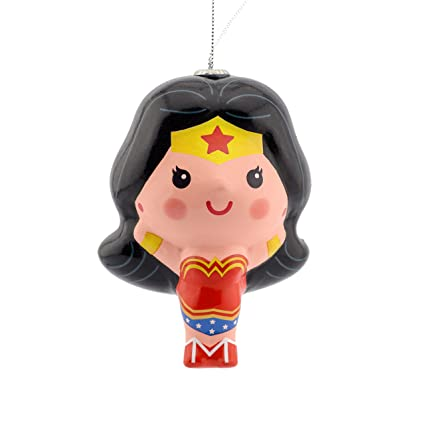 Hallmark Warner Bros. Wonder Woman Decoupage Christmas Ornaments