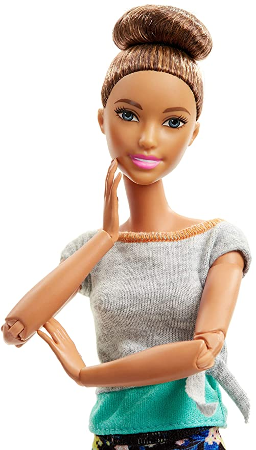 Amazon.com: Barbie Made To Move Doll, Brunette: Toys & Games