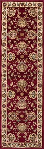 Well Woven Timeless Abbasi Red Traditional Area Rug 2 3 X 7 3 Runner