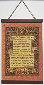 Simple Prayer for Peace by St. Francis of Assisi Renassaince Design 11 X 17 Wall Hanging
