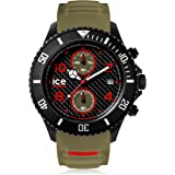Ice-Watch - ICE carbon Black Khaki - Montre verte pour homme avec bracelet en silicone - Chrono