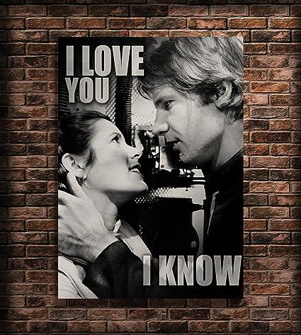 I Love You I Know Print Princess Leia And Han Solo Poster ...