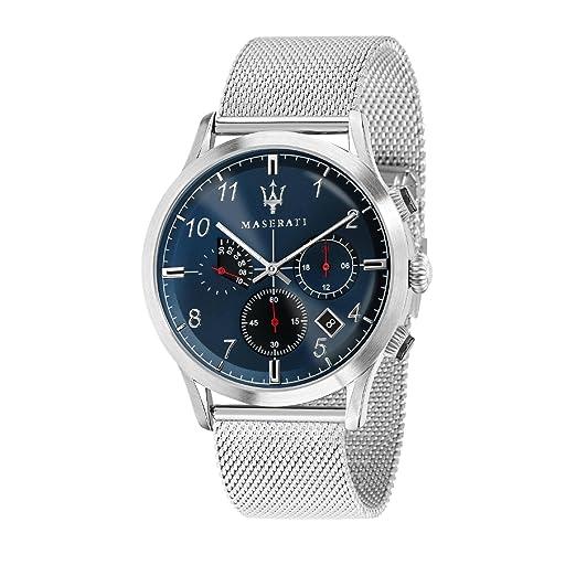MASERATI Reloj Cronógrafo para Hombre de Cuarzo con Correa en Acero Inoxidable R8873625003: Amazon.es: Relojes