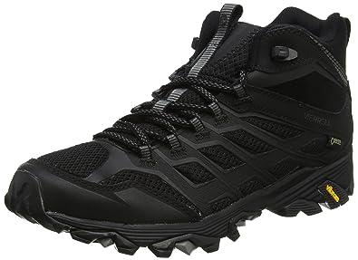 Merrell Moab FST GTX 2, Chaussures de Randonnée Basses Homme, Noir (Noir/Orange), 40 EU