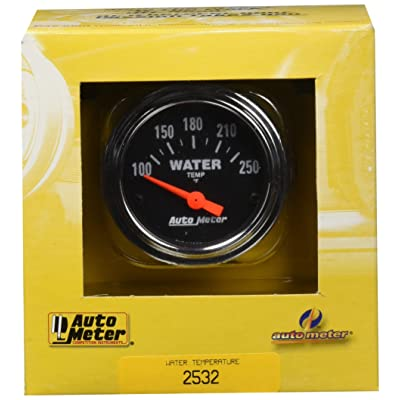 Auto Meter 2532 Traditional Chrome Electric Water Temperature Gauge: Automotive