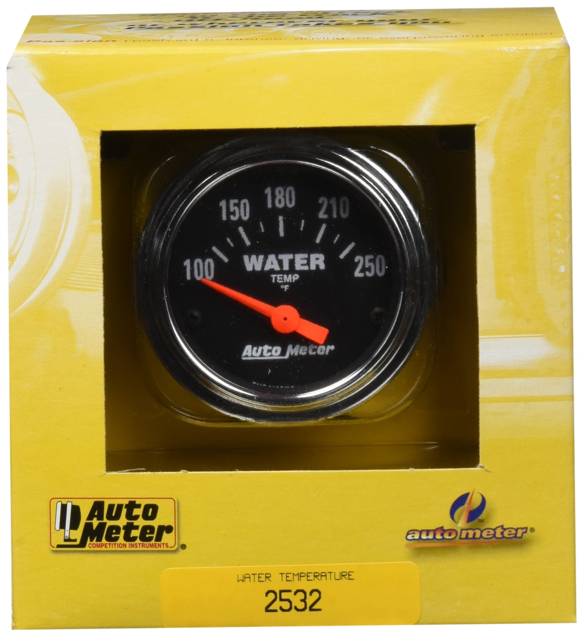 Auto Meter 2532 Traditional Chrome Electric Water Temperature Gauge by Auto Meter