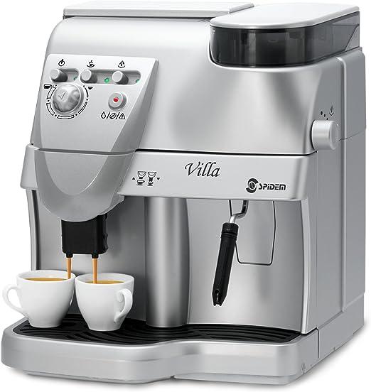 Spidem Villa - Cafetera de espresso, color plateado: Amazon.es: Hogar