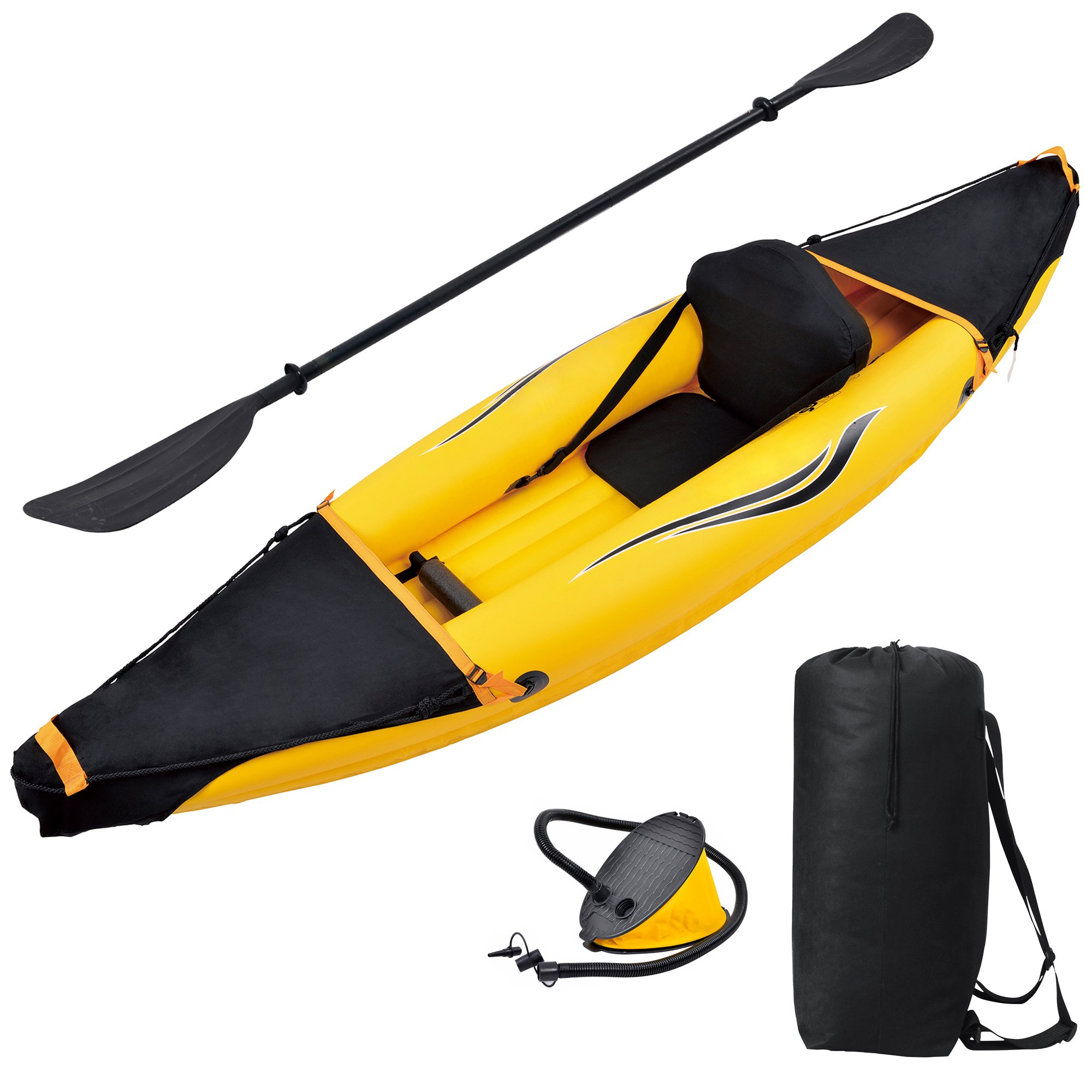 Blue Wave Sports Nomad 1 Person Inflatable Kayak by Blue Wave Sports