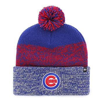 27e605cc573ef9 47 Brand Knit Beanie - Static Cuff Chicago Cubs royal: Amazon.co.uk ...