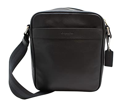 d5cb06ed7343 Amazon.com  Coach Outlet Mens Crossbody Messenger Bag Black Leather ...