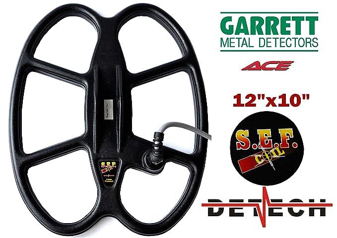 DETECH Bobina de búsqueda de Mariposas para Garrett Ace 150, 200, 200i, 250, 300, 300i, 350, 400, 400i y Garrett Euro Ace Detectores de Metal con Cubierta ...