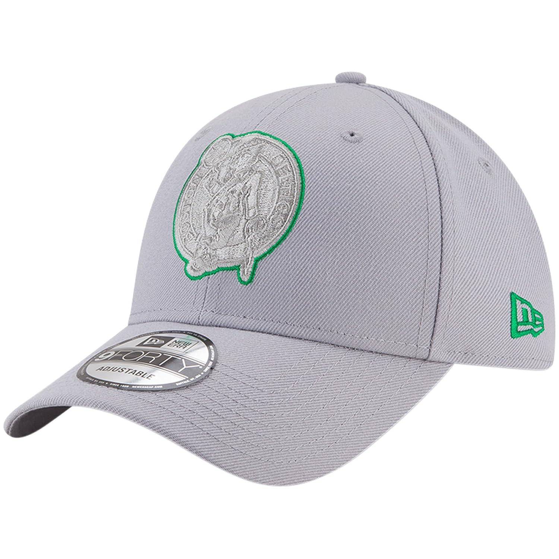 Boston Celtics New Era 9FORTY Adjustable Hat Grey   B07D2Z1HY4