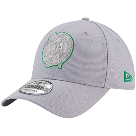 separation shoes 097a8 c09a8 Image Unavailable. Image not available for. Color  Boston Celtics New Era  9FORTY Adjustable Hat Gray
