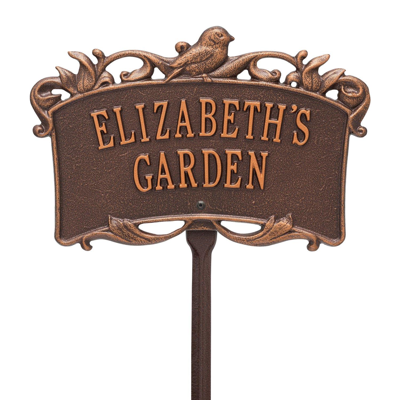 Amazon.com : 2 Line Personalized BIRD Garden Plaque : Garden & Outdoor