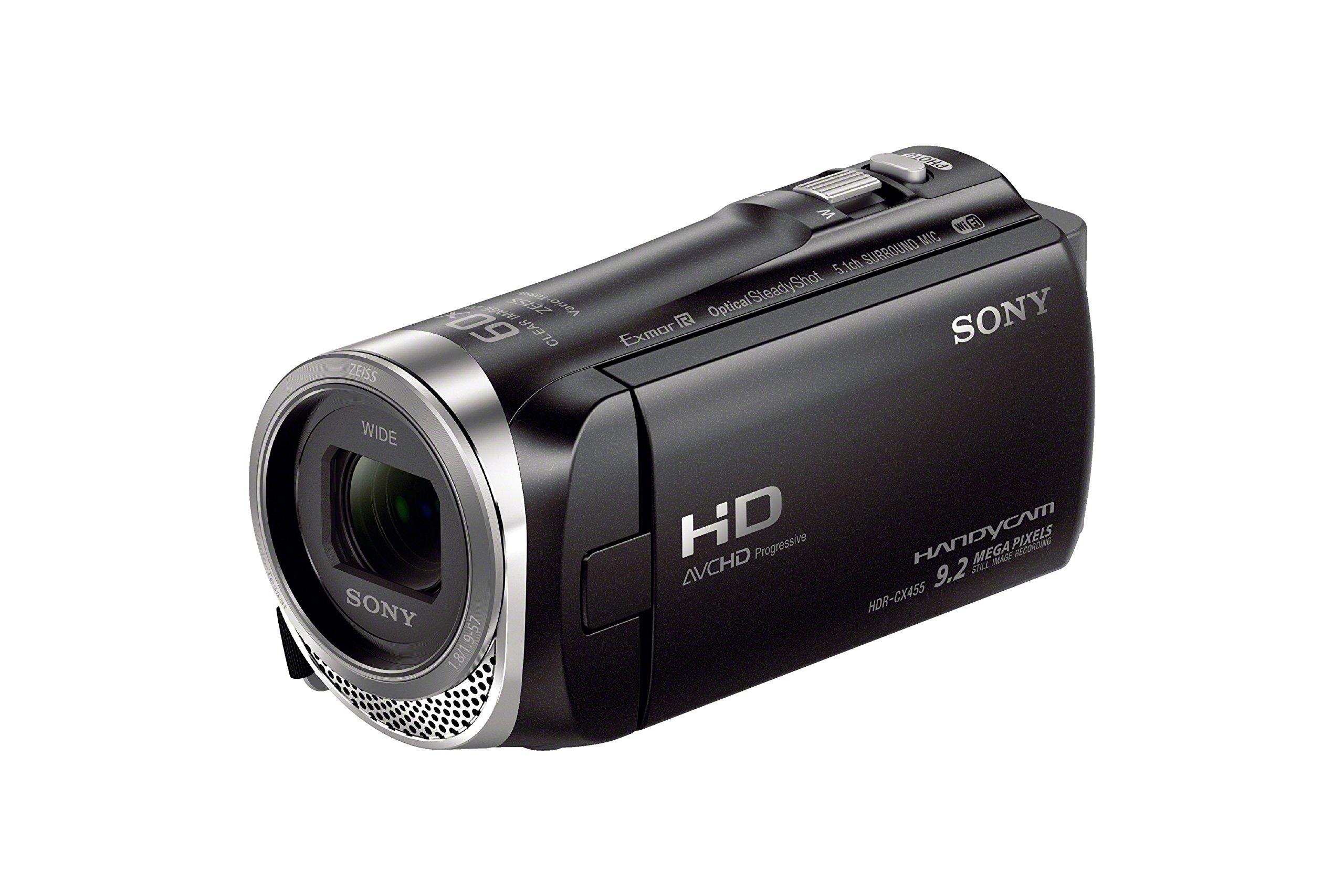 Sony HDRCX455/B Full HD 8GB Camcorder (Black) by Sony