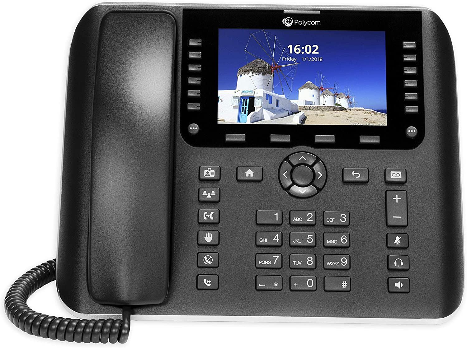 OBi2182 WiFi VOIP Phone with Power Adapter - 12-Line Cloud-Managed Gigabit Google Voice Phone with Color Display